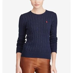Ralph Lauren Polo cable knit crew neck sweater